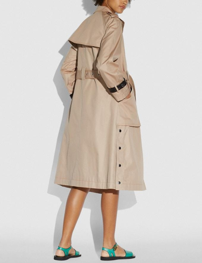 Coach Trench With Side Snaps Bone New Women's New Arrivals Ready-to-Wear Alternate View 2