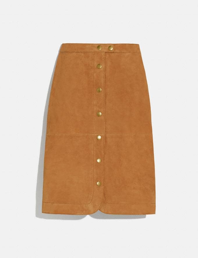 Coach Suede Skirt Canyon Women Ready-to-Wear Bottoms
