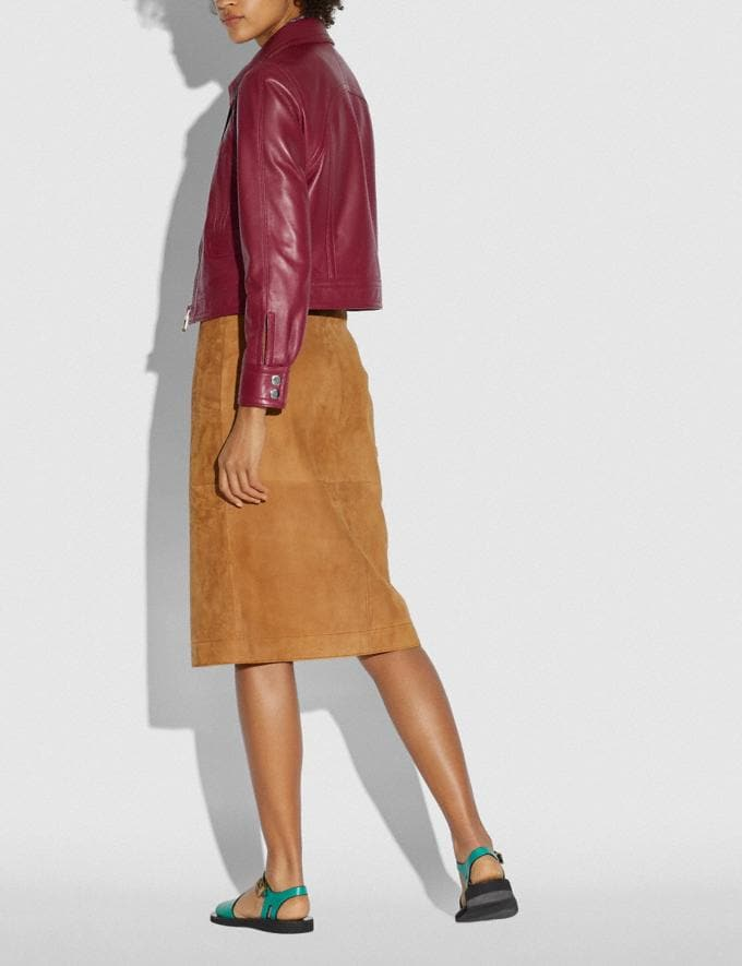 Coach Suede Skirt Canyon  Alternate View 2