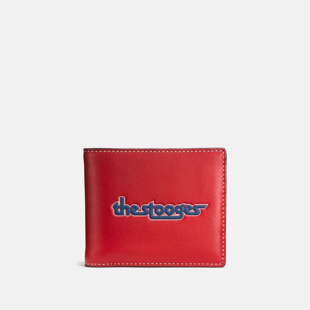 3-IN-1 WALLET IN GLOVETANNED LEATHER WITH THE STOOGES