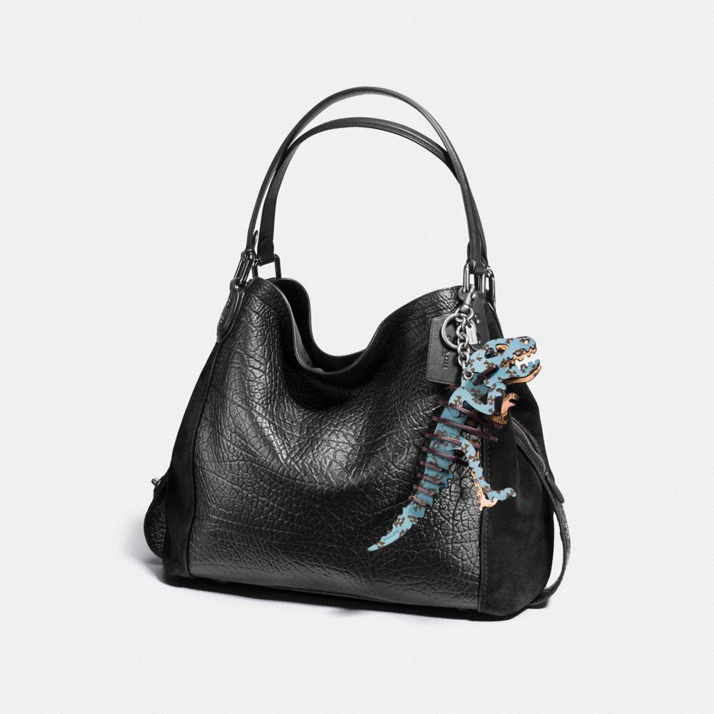 Coach Medium Printed Rexy Bag Charm Alternate View 1