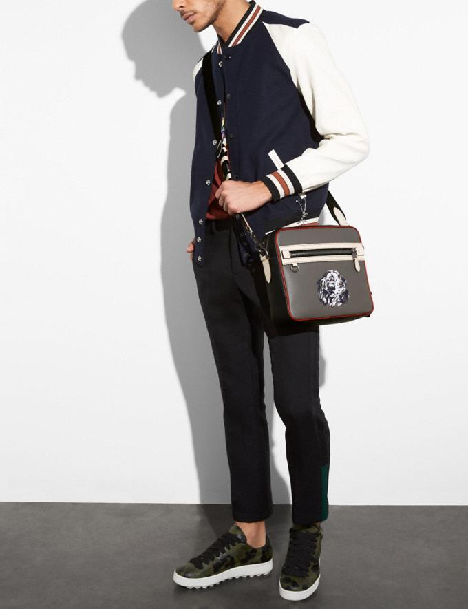 Coach Dylan With Vintage Dog Heather Grey/Midnight Navy/Black Copper New Featured Online-Only Alternate View 3