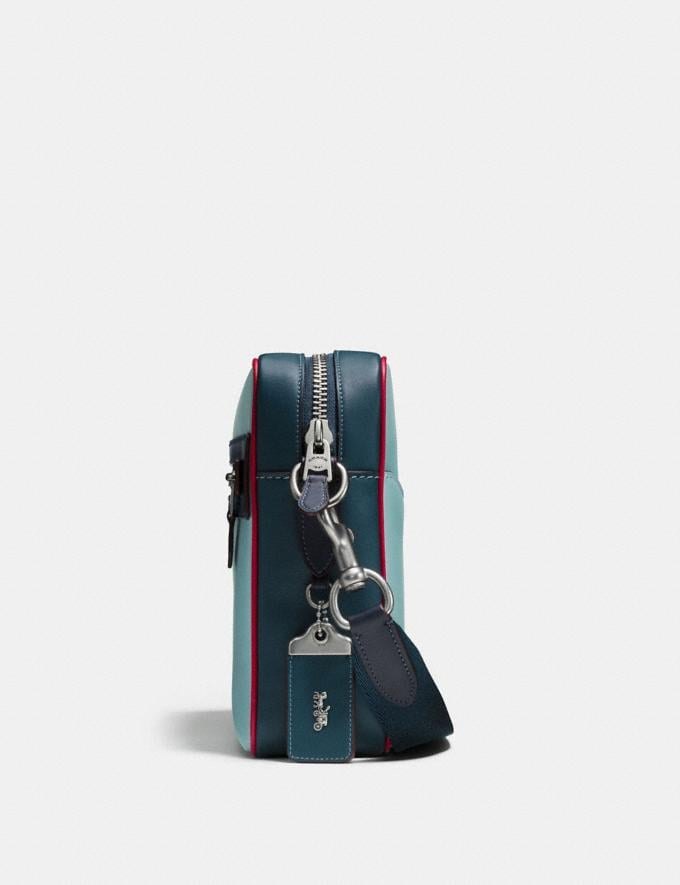 Coach Dylan With Sundae Steel Blue/Midnight Navy/Light Antique Nickel Men Bags Messenger Bags Alternate View 1