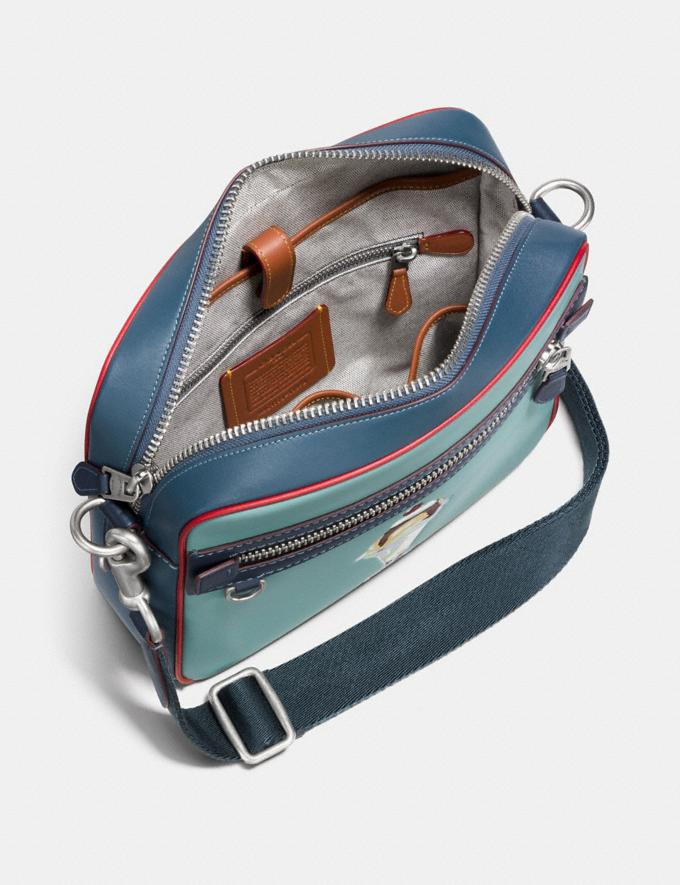 Coach Dylan With Sundae Steel Blue/Midnight Navy/Light Antique Nickel Men Bags Messenger Bags Alternate View 2