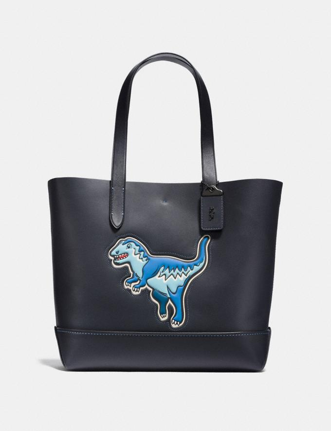 Coach Gotham Tote With Rexy Black Copper Finish/Navy/Black Men Bags Totes & Duffles