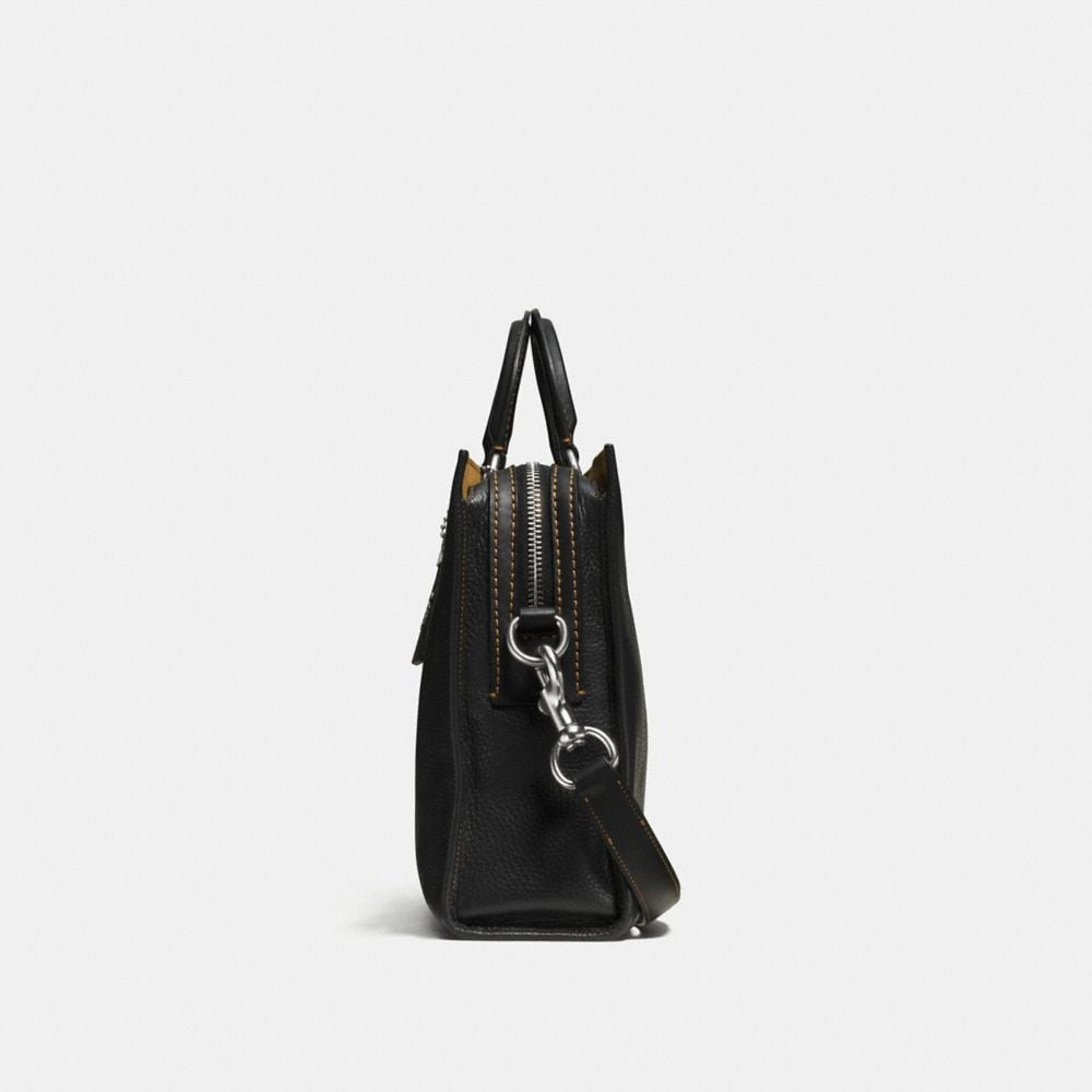 COACH Rogue Brief In Glovetanned Pebble Leather in Black