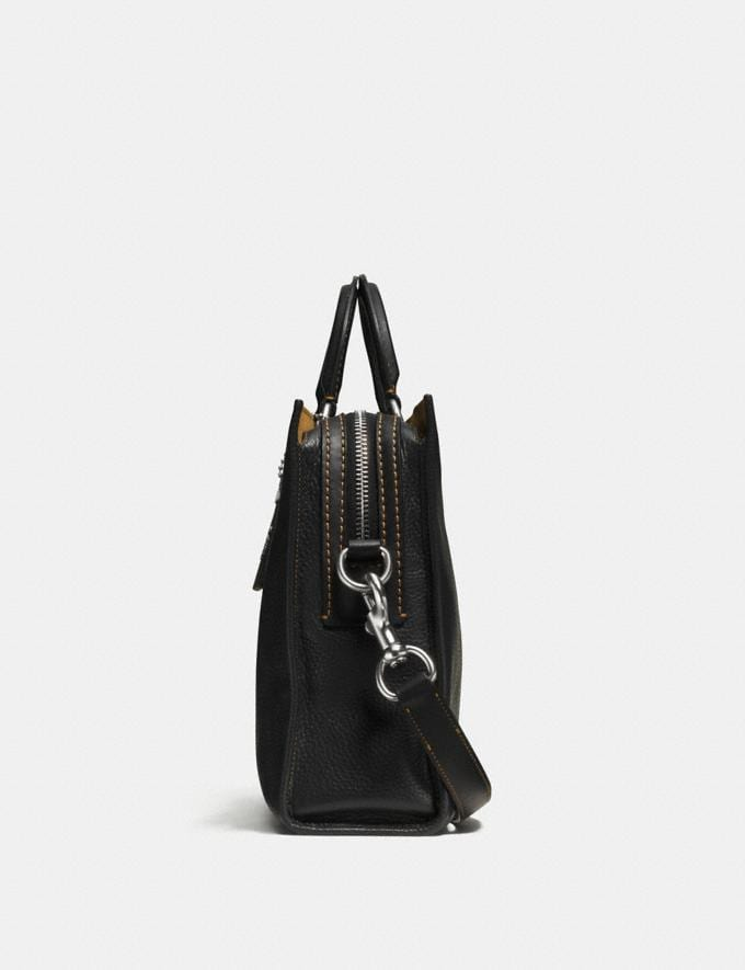 Coach Rogue Brief Black/Light Antique Nickel Customization For Her The Monogram Shop Alternate View 1