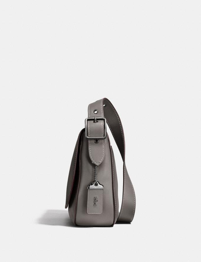 Coach Saddle 33 Heather Grey/Gunmetal Men Bags Messenger Bags Alternate View 1