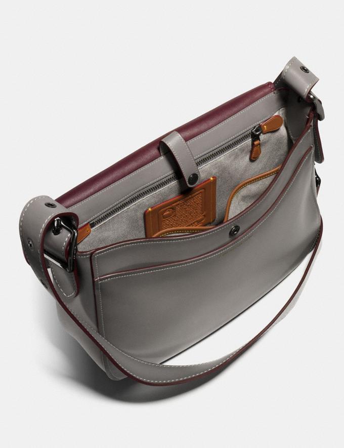 Coach Saddle 33 Heather Grey/Gunmetal Men Bags Messenger Bags Alternate View 2