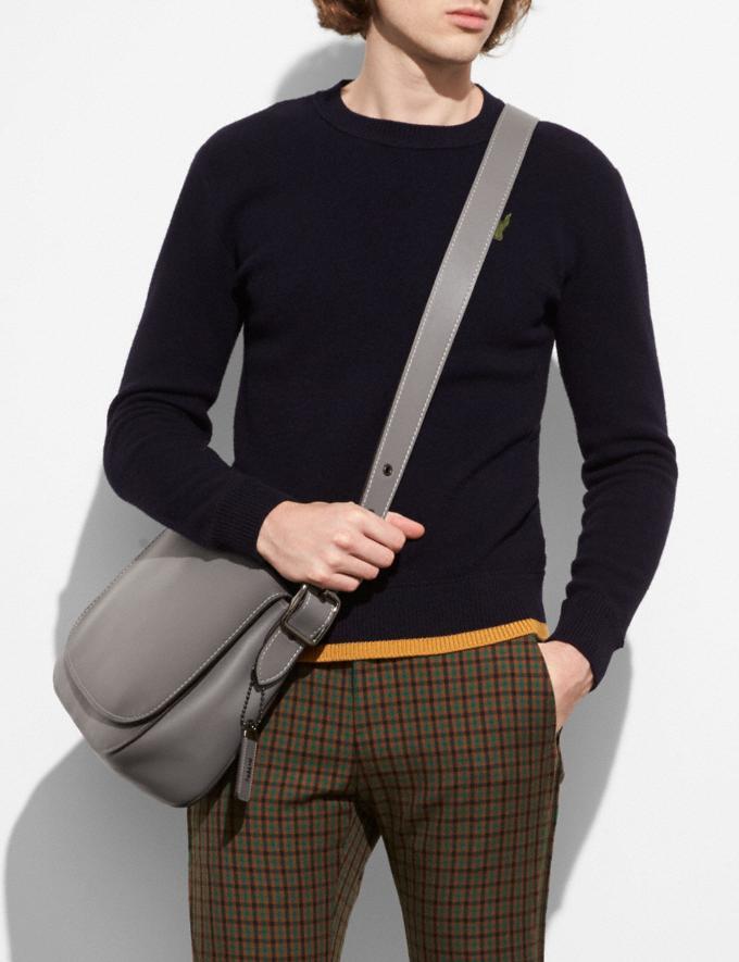 Coach Saddle 33 Heather Grey/Gunmetal Men Bags Messenger Bags Alternate View 3