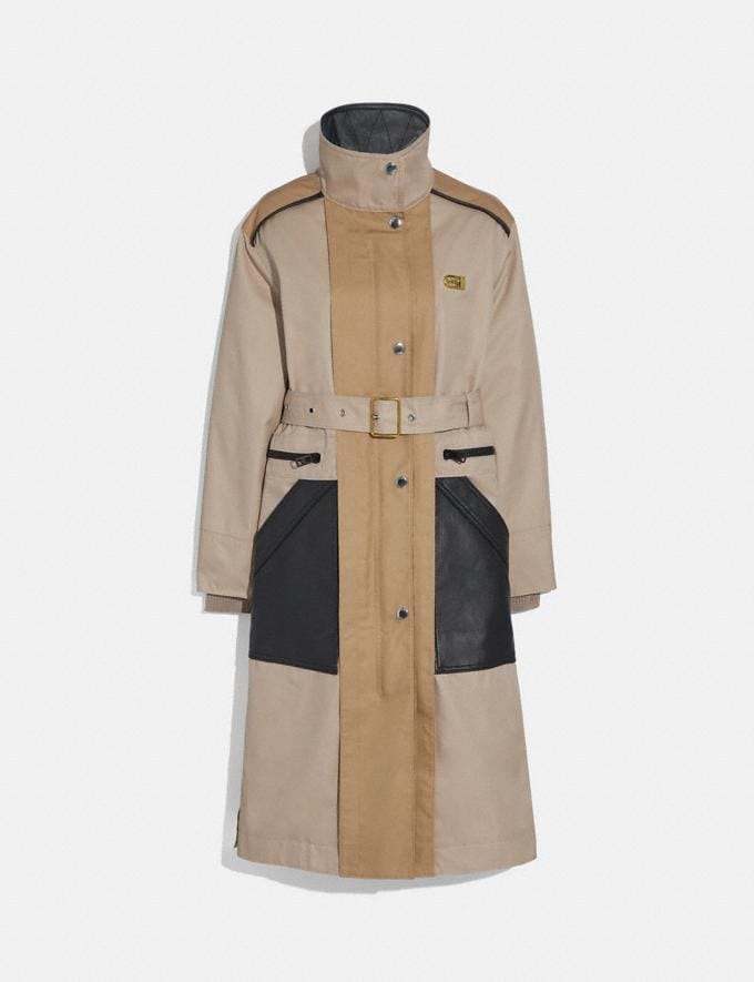 Coach Raincoat Bone New Women's New Arrivals Ready-to-Wear
