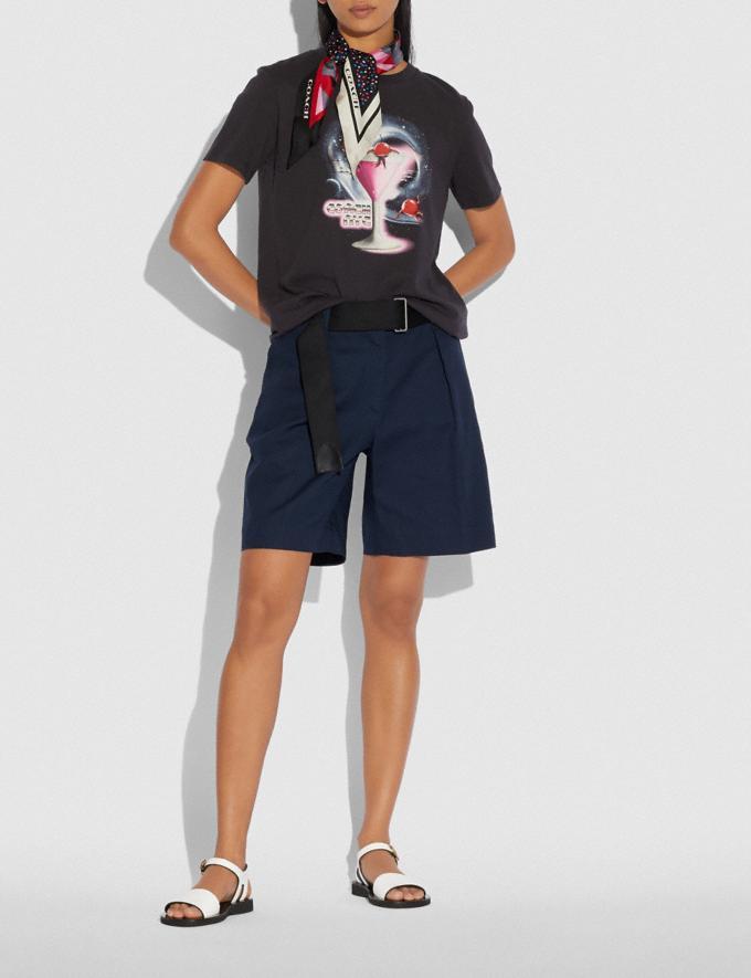 Coach Martini T-Shirt Schwarz  Alternative Ansicht 1