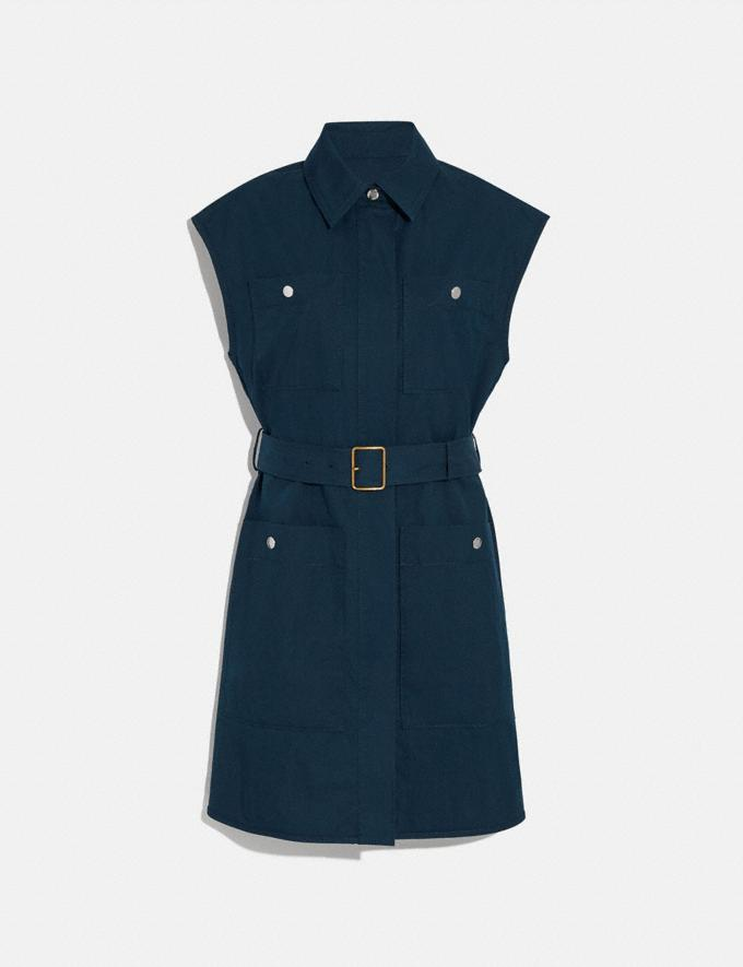 Coach Trench Dress Navy Women Edits Work