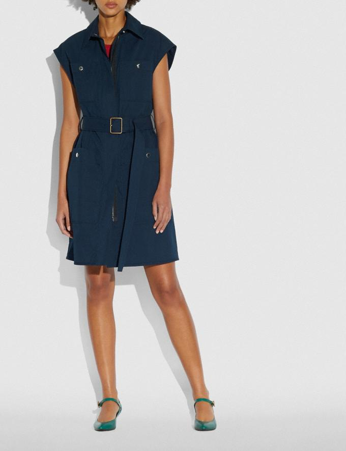 Coach Trench Dress Navy Women Ready-to-Wear Dresses Alternate View 1