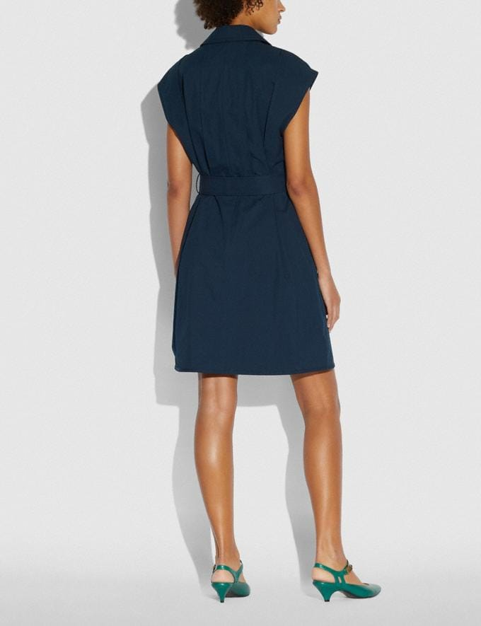 Coach Trench Dress Navy Women Edits Work Alternate View 2