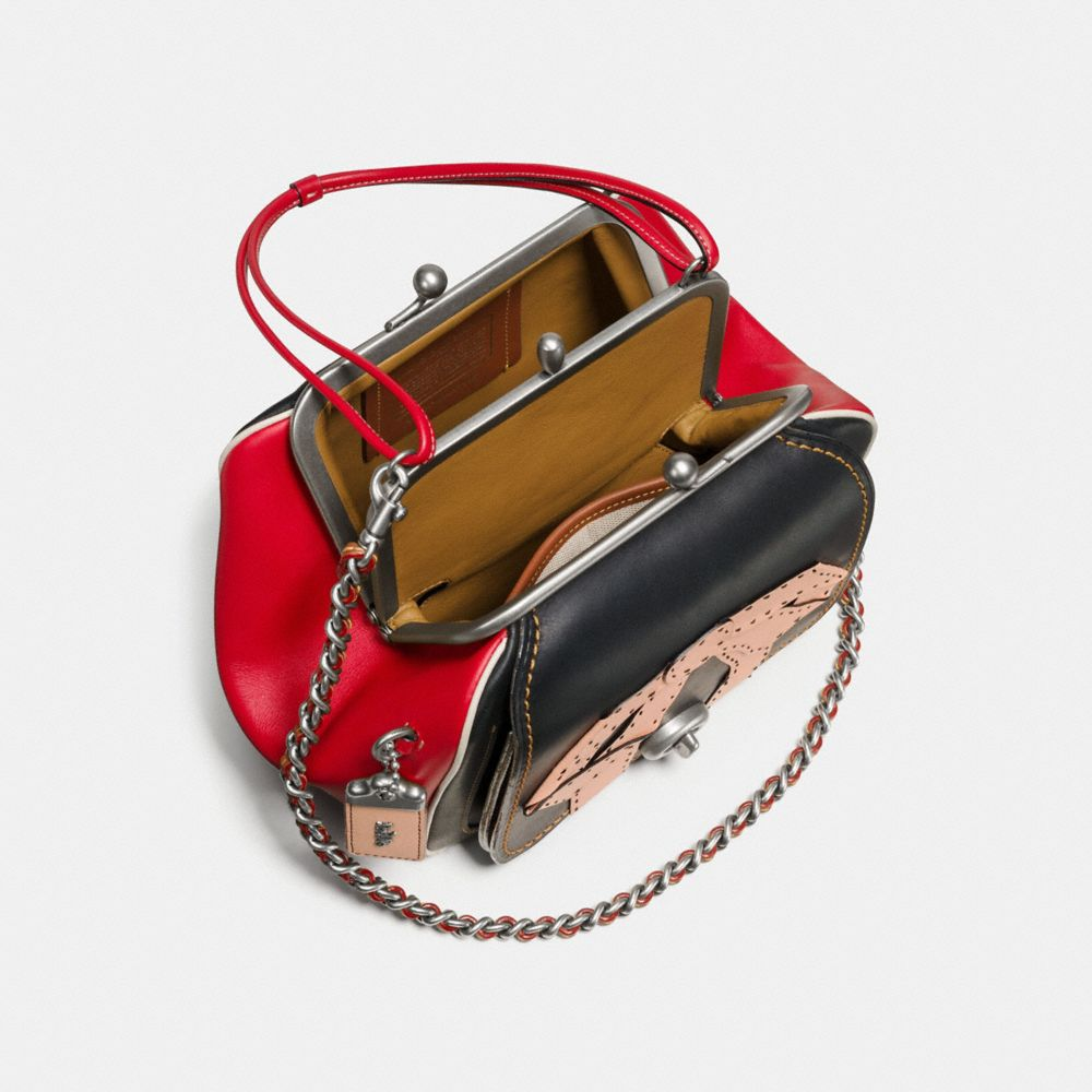 Kisslock Frame Bag 26 in Very Natural Glovetanned Leather With Bow Applique - Alternate View A2