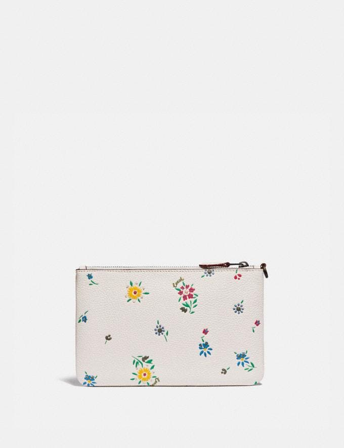 Coach Small Wristlet With Wildflower Print Pewter/Chalk Gifts For Her Under $100 Alternate View 1