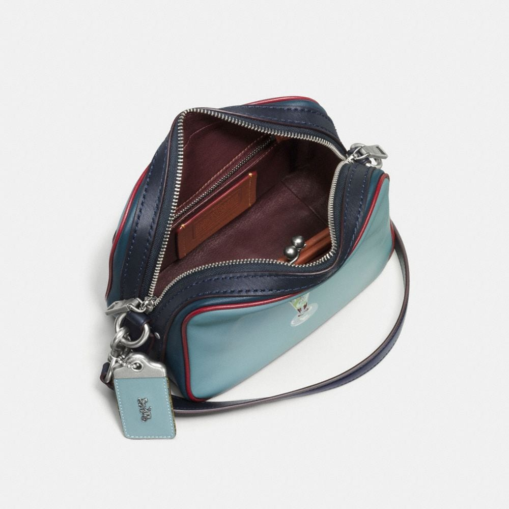 Dylan Crossbody in Glovetanned Leather With Embossed Sundae - Alternate View A2
