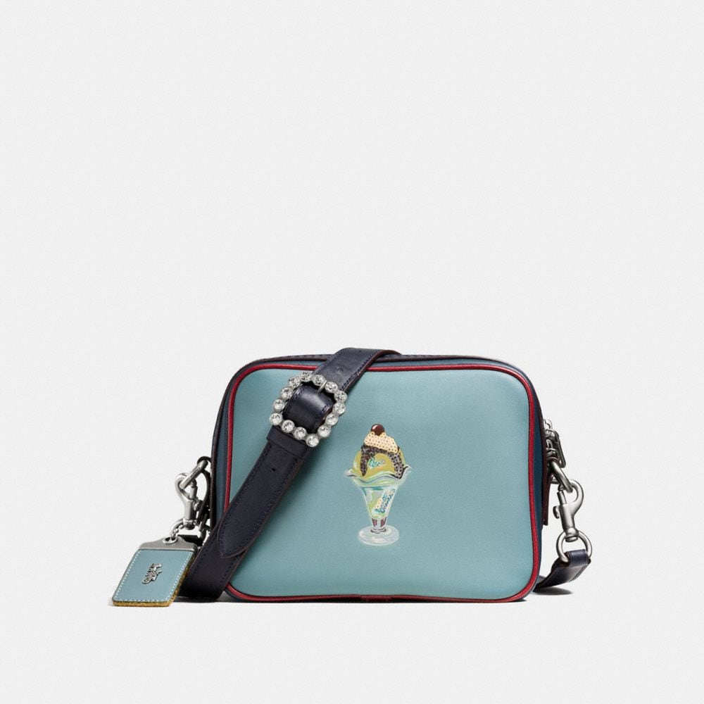 Dylan Crossbody in Glovetanned Leather With Embossed Sundae