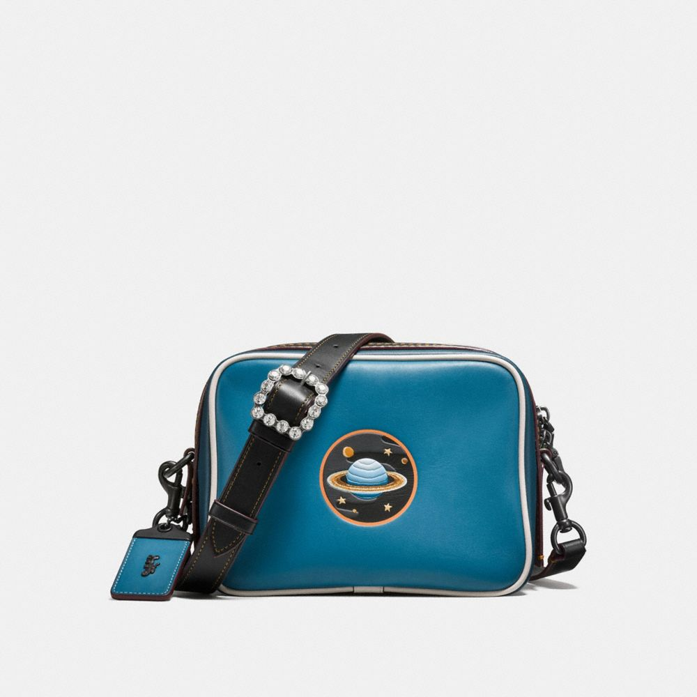 Dylan Crossbody in Glovetanned Leather With Embossed Planet