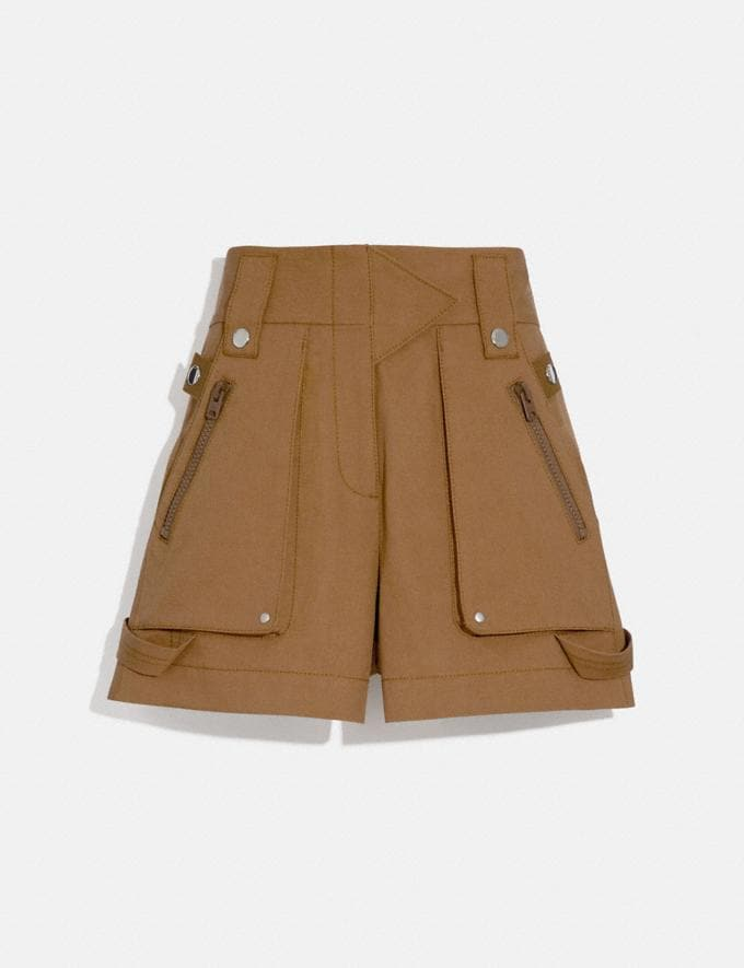 Coach Pocket Shorts Light Brown Women Ready-to-Wear Bottoms