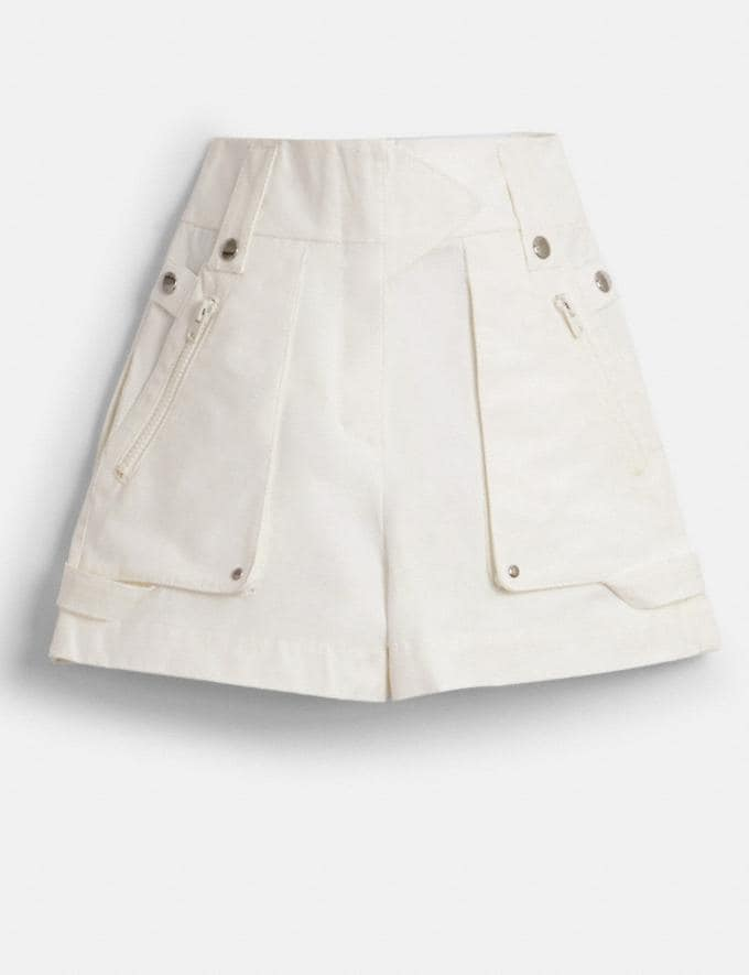 Coach Pocket Shorts Light Brown Women Ready-to-Wear Bottoms