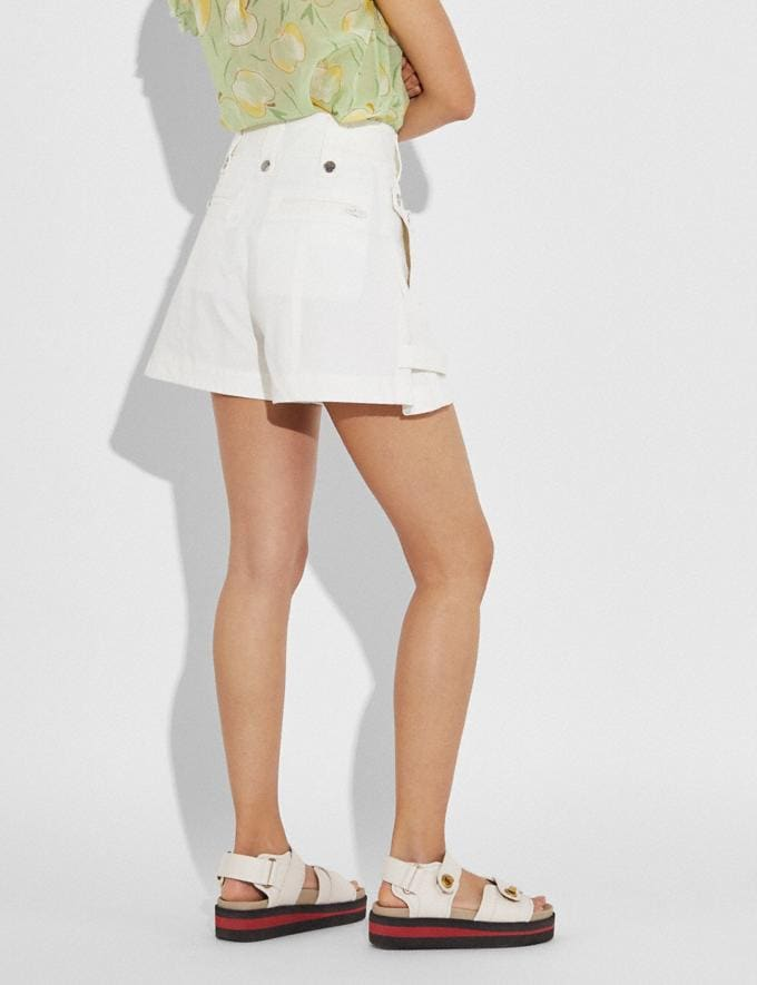 Coach Pocket Shorts Light Brown Women Ready-to-Wear Bottoms Alternate View 1