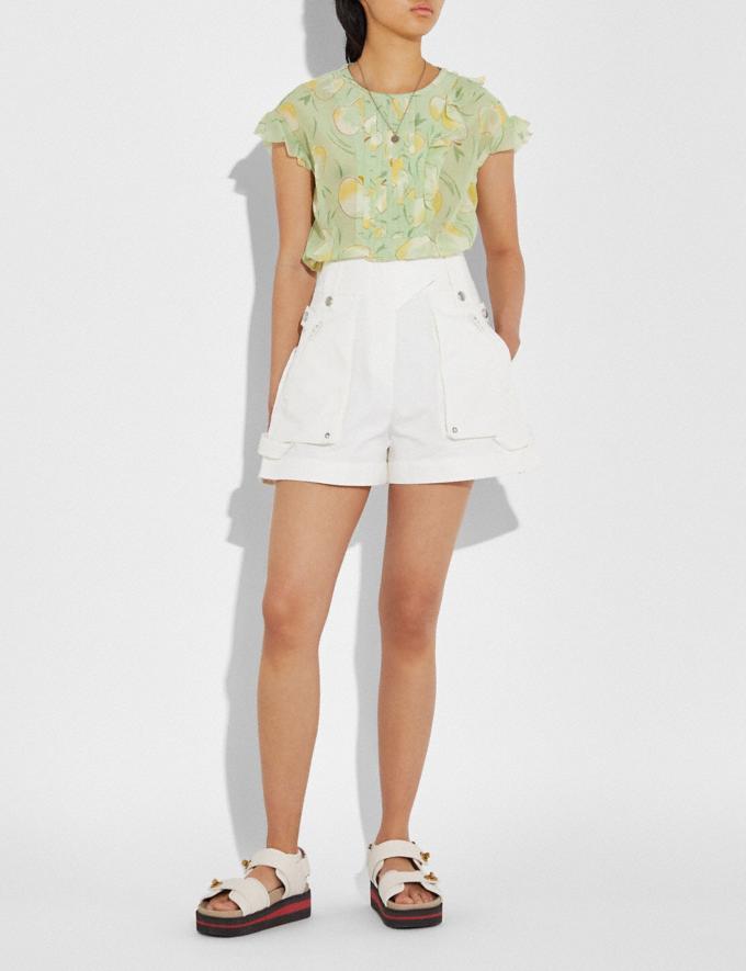 Coach Pocket Shorts Light Brown Women Ready-to-Wear Bottoms Alternate View 2