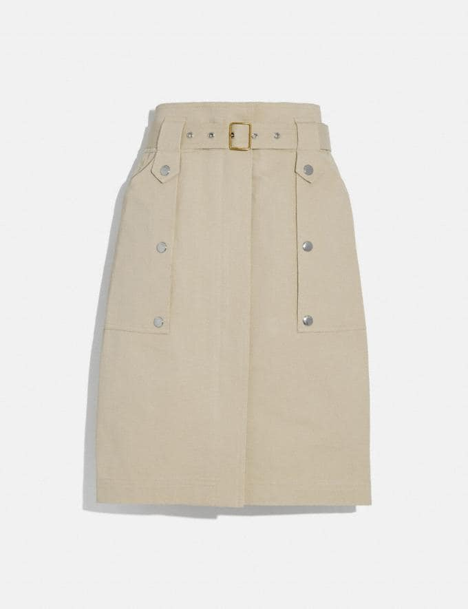 Coach Belted Safari Skirt Sand Women Ready-to-Wear Bottoms