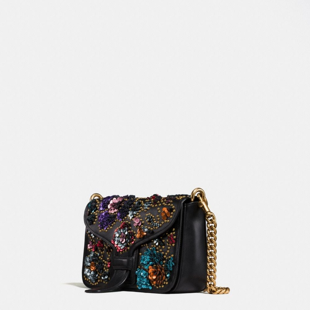 Courier Crossbody in Glovetanned Leather With Leather Sequins - Alternate View A1