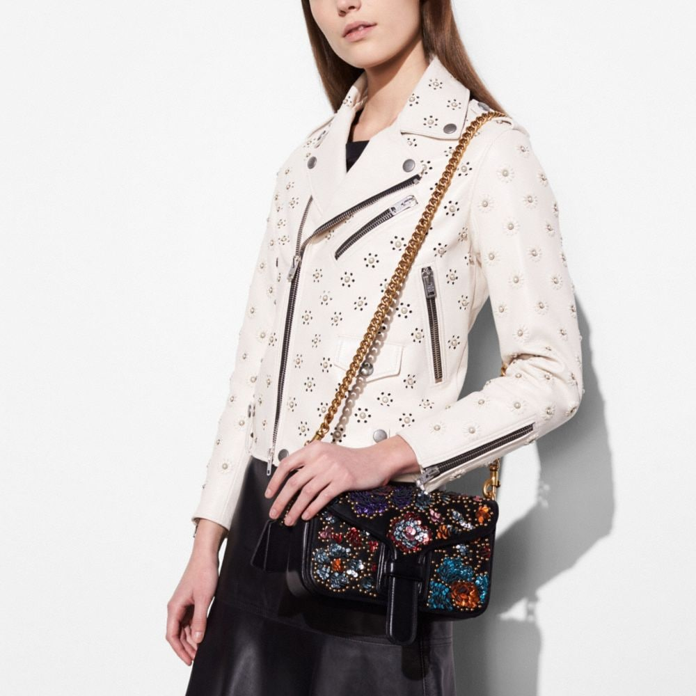 Courier Crossbody in Glovetanned Leather With Leather Sequins - Alternate View A3