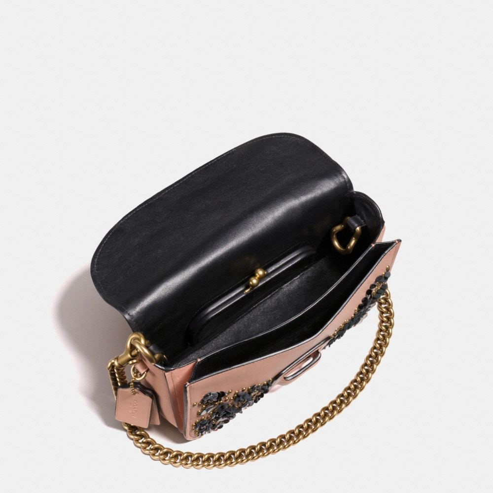 Courier Crossbody in Glovetanned Leather With Leather Sequins - Alternate View A2