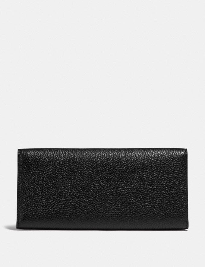Coach Tabby Long Wallet in Colorblock Signature Canvas B4/Tan Black Women Collection Tabby Alternate View 1