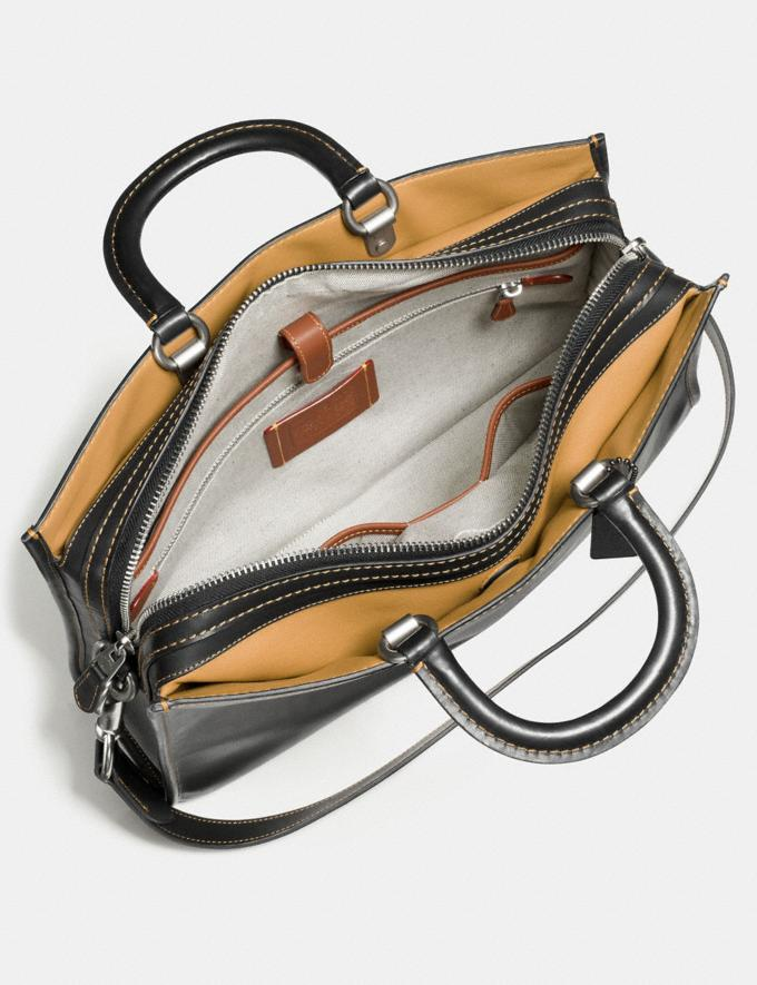 Coach Rogue Brief Light Saddle/Black Copper Personalise Personalise It Monogram For Him Alternate View 2