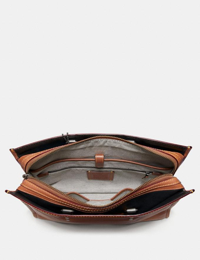 Coach Rogue Brief Dark Sienna/Light Antique Nickel  Alternate View 2