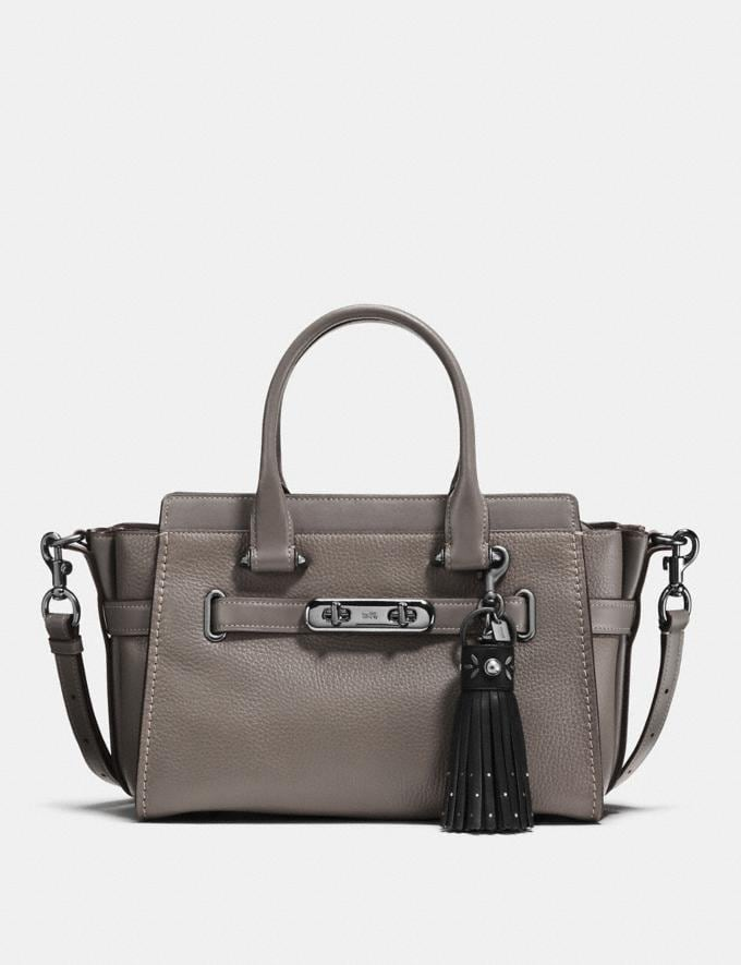 Coach Tassel Bag Charm Black/Black VIP SALE Women's Sale Accessories Alternate View 1