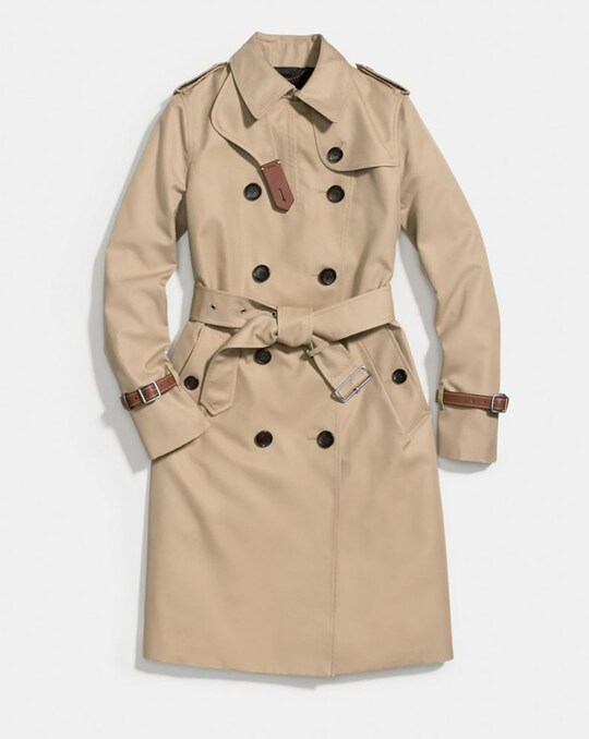 TRENCH WITH LEATHER BRACELET