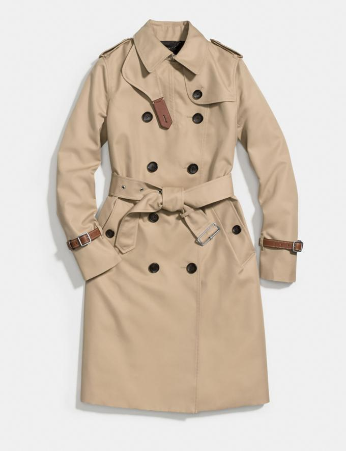 Coach Trench Light Khaki Women Ready-to-Wear Jackets & Outerwear