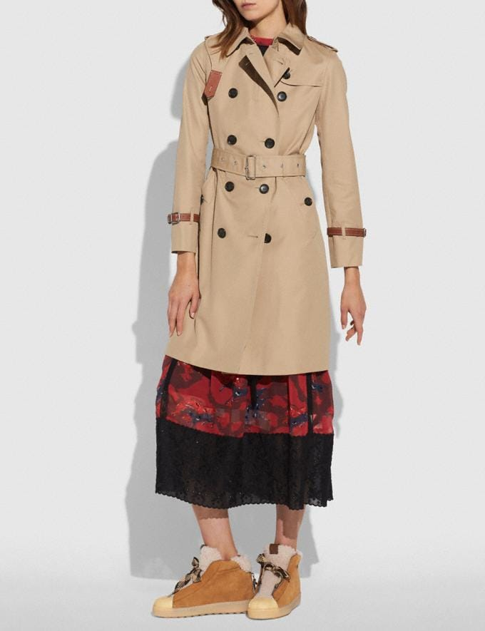 Coach Trench Light Khaki Women Ready-to-Wear Jackets & Outerwear Alternate View 3