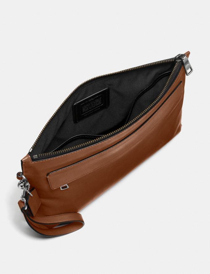 Coach Pouch Dark Saddle Men Accessories Travel Alternate View 1