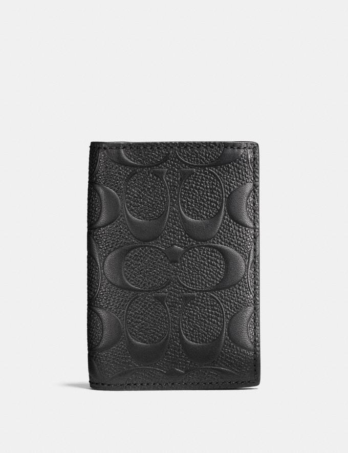 Coach Bifold Card Case in Signature Leather Black