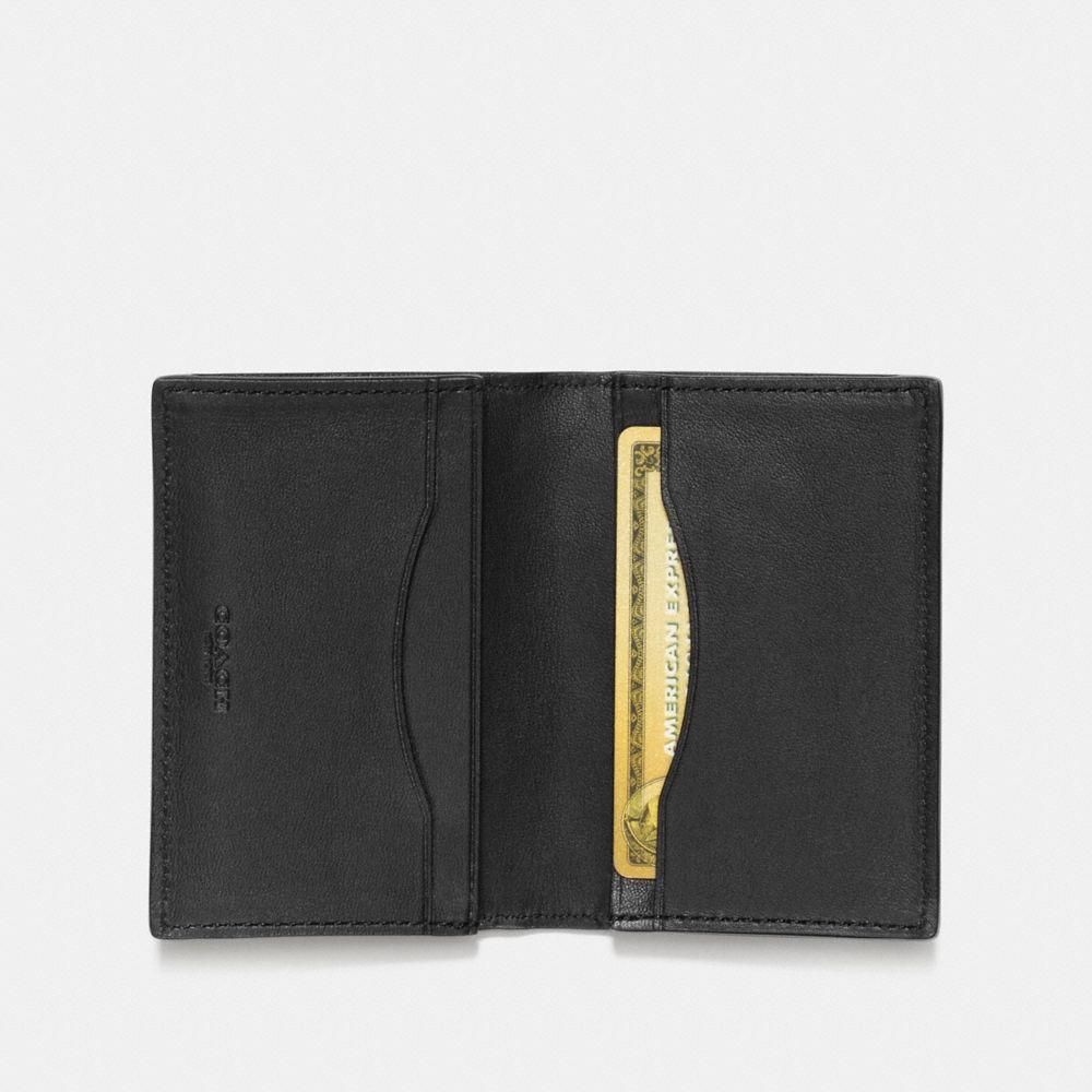 Coach Bifold Card Case in Signature Leather Alternate View 1