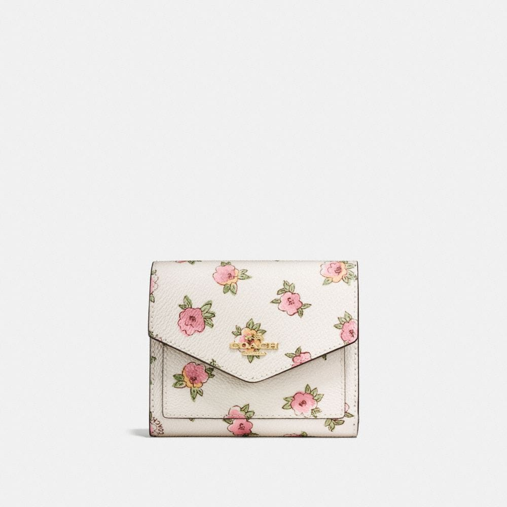 SMALL WALLET WITH FLOWER PATCH PRINT