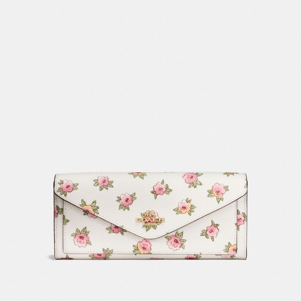 Coach Soft Wallet With Flower Patch Print