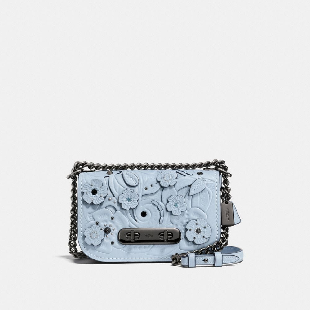 COACH SWAGGER SHOULDER BAG 20 WITH TEA ROSE TOOLING