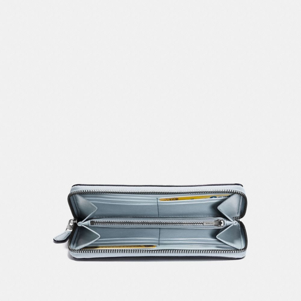 Coach Accordion Zip Wallet With Lacquer Rivets Alternate View 1