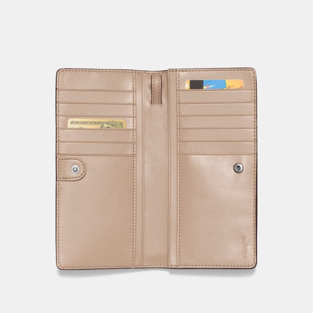 Coach Slim Wallet With Tea Rose and Tooling Alternate View 1