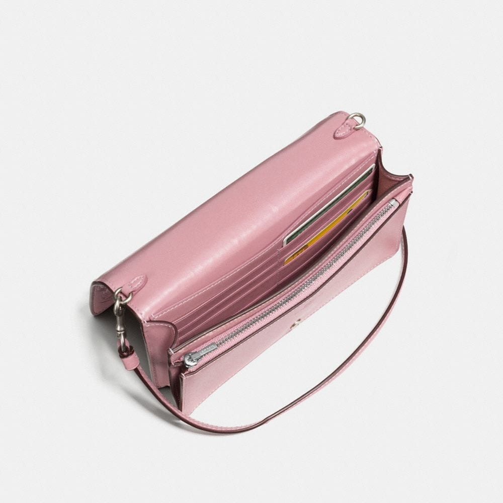 Coach Foldover Crossbody Clutch With Tea Rose Tooling Alternate View 2