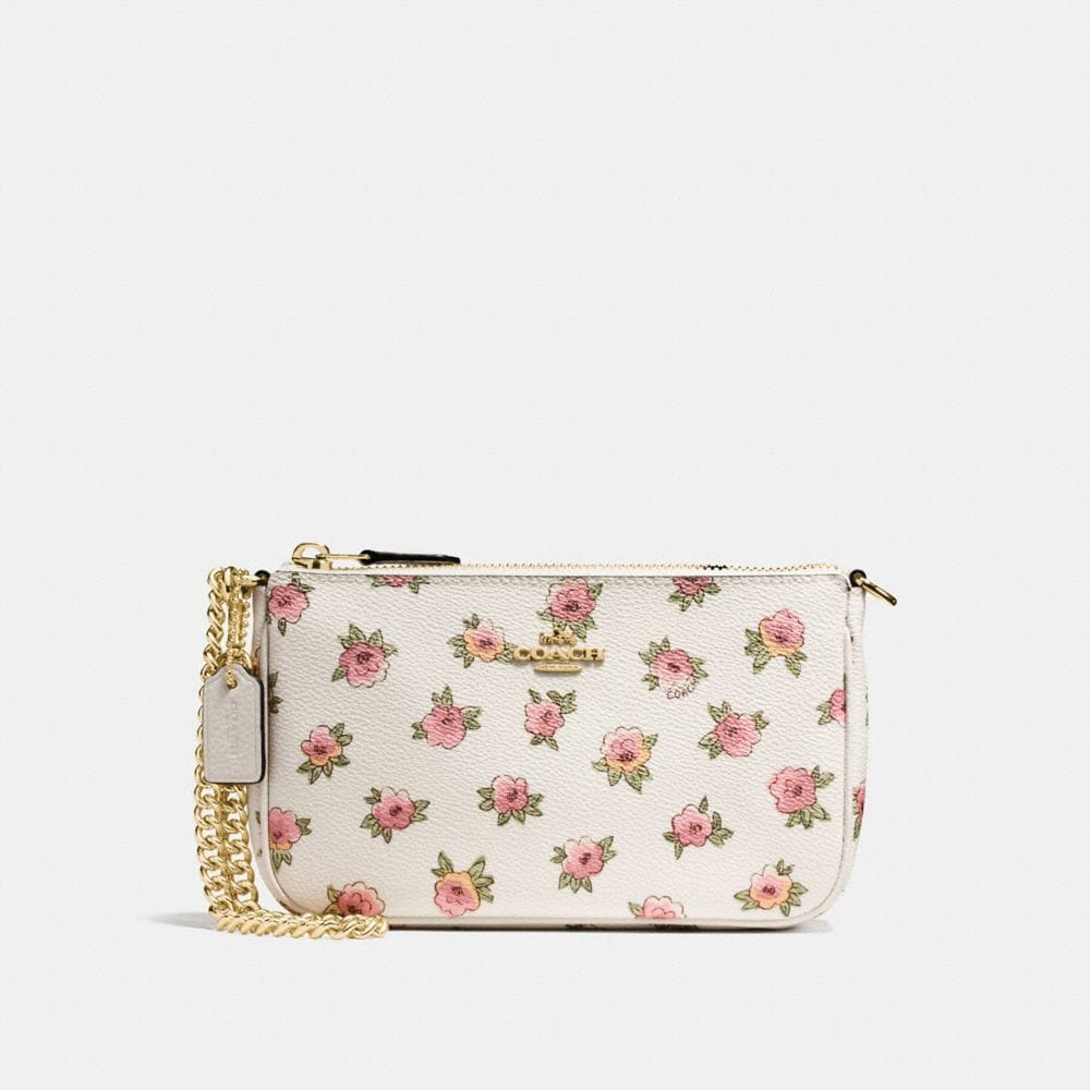 NOLITA WRISTLET 19 IN FLORAL PATCH PRINT COATED CANVAS