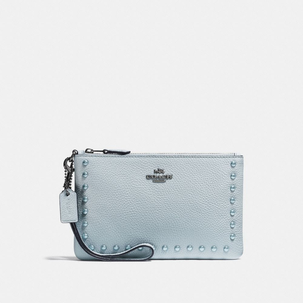 Coach Small Wristlet With Lacquer Rivets
